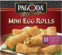 egg rolls mini kung pao chicken Pagoda Express Nutrition info