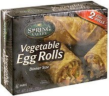 egg rolls vegetable, dinner size Spring Valley Nutrition info