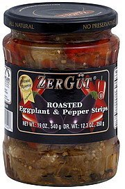 eggplant & pepper strips roasted Zergut Nutrition info