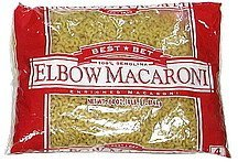 elbow macaroni 100% semolina Best Bet Nutrition info