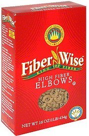 elbows high fiber Fiber Wise Nutrition info