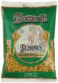 elbows Botticelli Nutrition info