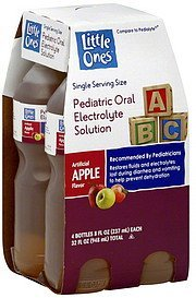 electrolyte solution pediatric oral, apple flavor Little Ones Nutrition info