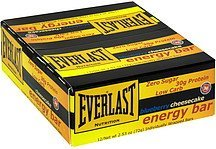 energy bar blueberry cheesecake Everlast Nutrition info