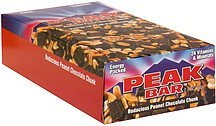 energy bar bodacious peanut chocolate chunk Peak Bar Nutrition info