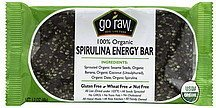 energy bar spirulina, 100% organic Go Raw Nutrition info