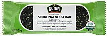 energy bar spirulina Go Raw Nutrition info