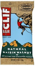 energy bars oatmeal raisin walnut Clif Bar Nutrition info