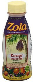 energy smoothie tropical blend Zola Nutrition info