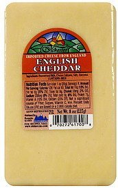 english cheddar Tlchester Nutrition info