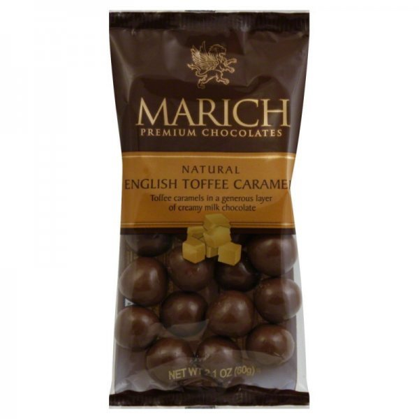 english toffee caramels Marich Nutrition info