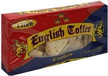 english toffee cookies Maurice Lenell Nutrition info