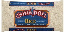 enriched rice long grain China Doll Nutrition info