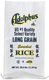 enriched rice long grain Adolphus Nutrition info