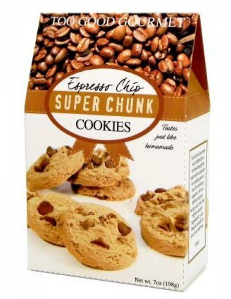espresso chip super chunk cookies Too Good Gourmet Nutrition info