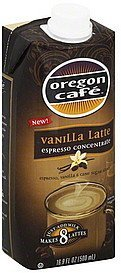 espresso concentrate vanilla latte Oregon Cafe Nutrition info