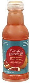 essence water blood orange Simply Balanced Nutrition info