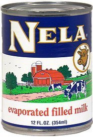 evaporated filled milk Nela Nutrition info