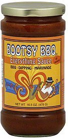 everything sauce Bootsy BBQ Nutrition info