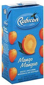 exotic juice drink mango Rubicon Nutrition info