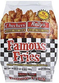 famous fries Checkers Rallys Nutrition info