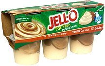 fat free pudding snacks vanilla caramel sundaes Jell-o Nutrition info