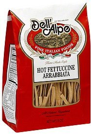 fettuccine hot arrabbiata Dell'Alpe Nutrition info