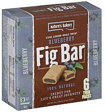 fig bar whole wheat blueberry Natures Bakery Nutrition info