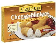 filled crepes cheese blintzes Golden Nutrition info