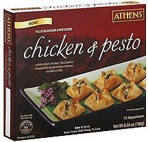 fillo blossom appetizers chicken & pesto Athens Nutrition info