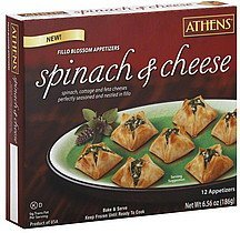 fillo blossom appetizers spinach & cheese Athens Nutrition info