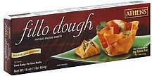 fillo dough phyllo pastry sheets Athens Nutrition info