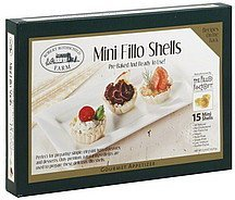fillo shells mini Robert Rothschild Farm Nutrition info