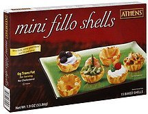 fillo shells mini Athens Nutrition info