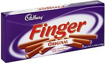 finger cookies covered in milk chocolate, original Cadbury Nutrition info