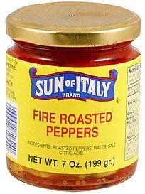 fire roasted peppers Sun of Italy Nutrition info