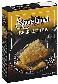 fish batter mix beer batter Shore Lunch Nutrition info