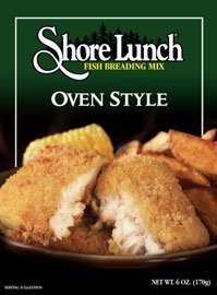 fish breading mix oven style Shore Lunch Nutrition info