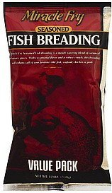 fish breading seasoned, value pack Miracle Fry Nutrition info