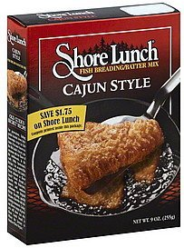 fish breading/batter mix cajun style Shore Lunch Nutrition info