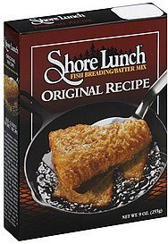 fish breading/batter mix original recipe Shore Lunch Nutrition info