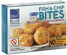 fish & chip bites Blue Horizon Natural Nutrition info