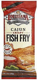 fish fry crispy, cajun Louisiana Nutrition info