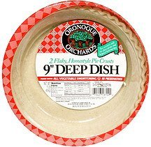 flaky, homestyle pie crusts 9 inch deep dish Oronoque Orchards Nutrition info