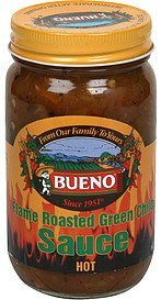 flame roasted green chile sauce hot Bueno Nutrition info