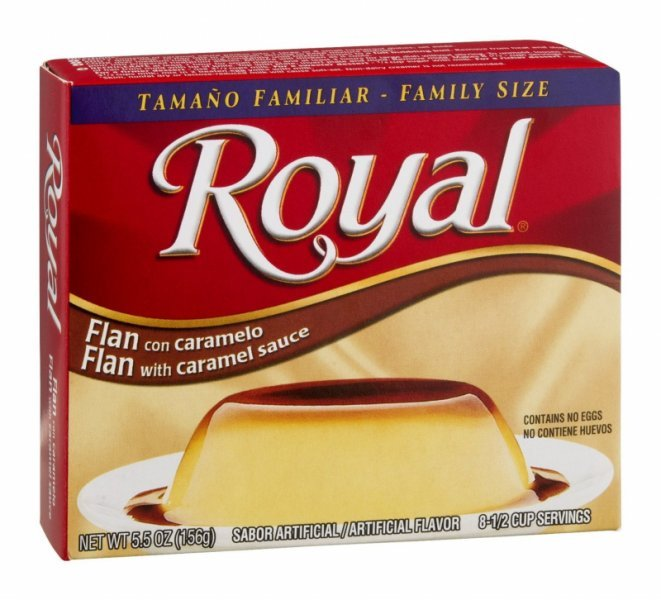 flan with caramel sauce Royal Nutrition info
