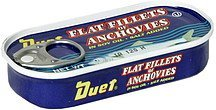 flat fillets of anchovies in soy oil Duet Nutrition info