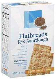 flatbreads rye sourdough ShopRite Nutrition info