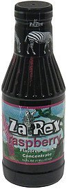 flavored drink concentrate raspberry Zarex Nutrition info