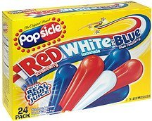 flavored juice ice pops red, white & blue Popsicle Nutrition info